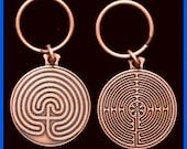 Labyrinth Key Chain- Copper Tone - %20 Off - - SALE - sale - SALE - sale - SALE -