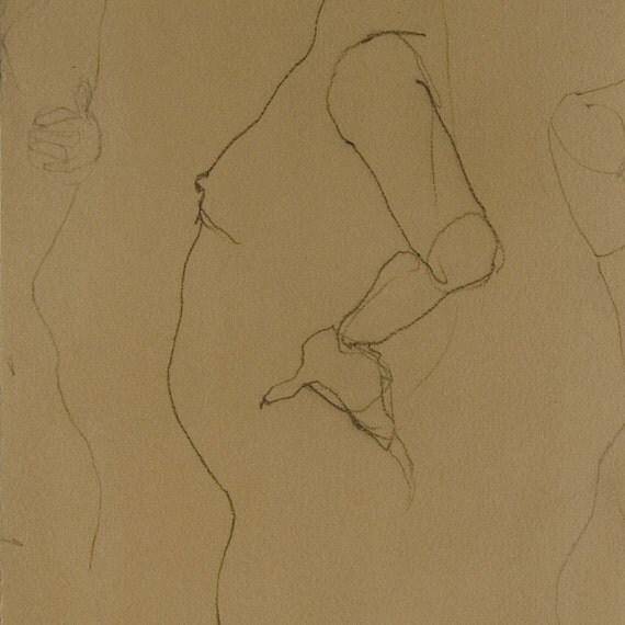 Tanya Crayon Line Drawing