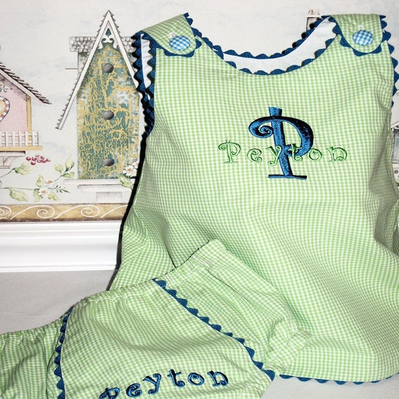 PEYTON.........................Custom Boutique Monogrammed Aline Swing Dress