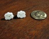 tiny happy cloud post earrings