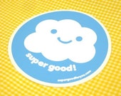 happy cloud sticker