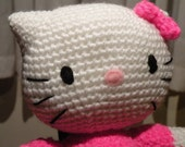 PDF - Kitty - 10.8 inches / 27 cm - amigurumi doll crochet pattern. Available in English or Spanish language
