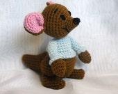 PDF - Roo the Winnie the Pooh's friend - 8 inches amigurumi doll crochet pattern