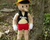 PDF - Pinocchio 15.5 inches amigurumi doll crochet pattern