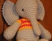 Descarga instantánea - PDF - Francis, el elefante -  27 cm amigurumi patrón de crohet en español