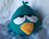 PDF - Sleepy Bird from Pocoyo - 5.5 inches amigurumi doll crochet pattern. Available in English and Spanish language