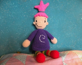 PDF - Pinky Dinky Doo - 16.8 inches - amigurumi doll crochet pattern. Available in English or Spanish language