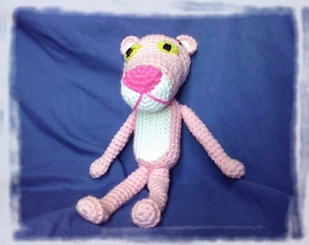 PDF - The Pink Panther - 11.5 inches - amigurumi doll crochet pattern