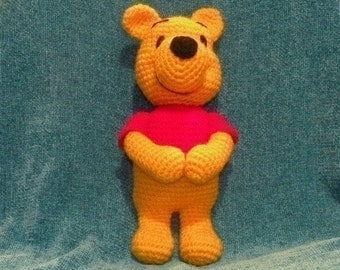 INSTANT DOWNLOAD - PDF - Winnie the Pooh - 11.5 inches amigurumi doll crochet pattern in English
