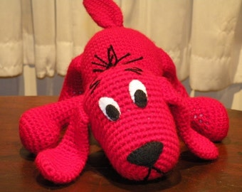 PDF - INSTANT DOWNLOAD - Clifford, the big red dog.13.6 inches Amigurumi doll Crochet pattern in English language