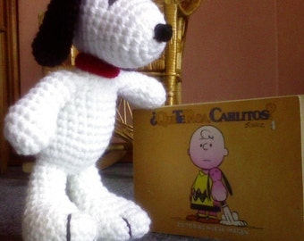 PDF - My Snoopy  - 10 inches - amigurumi doll crochet pattern. Available in English or Spanish language