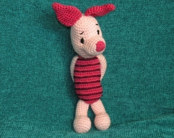 INSTANT DOWNLOAD -PDF - Piglet the Winnie the Pooh's friend 12.5 inches / 31 cm amigurumi doll crochet pattern