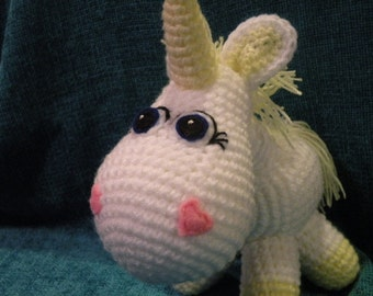 PDF - Unicorn 8,8 inches / 22 cm amigurumi doll crohet pattern