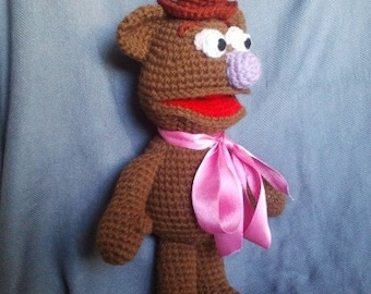 INSTANT DOWNLOAD PDF - Fozzie bear 13 inches Amigurumi doll Crochet pattern