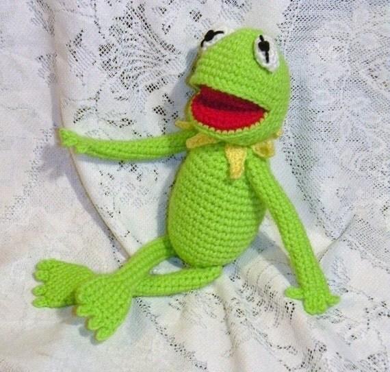 PDF Kermit the frog - 14 inches \/ 35 cm amigurumi doll crochet pattern