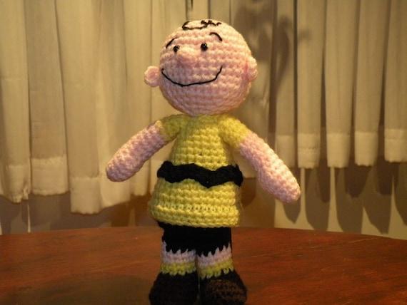 PDF crochet pattern - Charlie Brown Peanuts 9.6 inches amigurumi doll