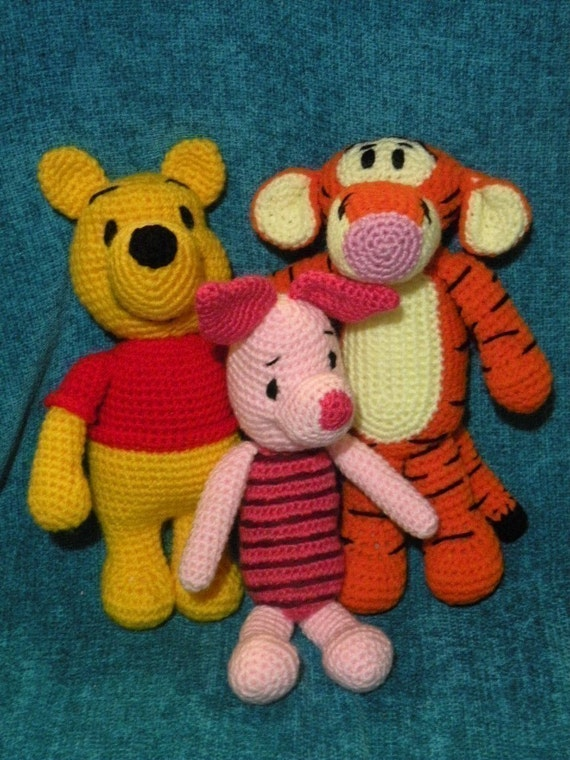 Winnie The Pooh Amigurumi Schemi : SPECIAL OFFER 6 amigurumi crochet pattern from Winnie the