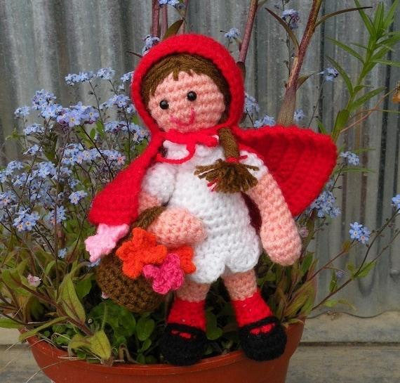 PDF - Little red riding hood - amigurumi doll crochet pattern