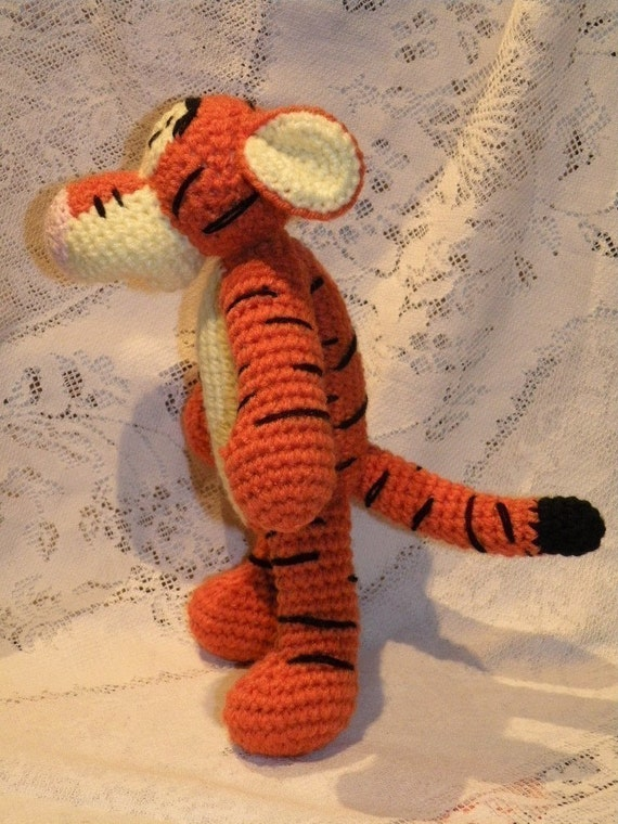 Patons Free Knitting Patterns Sweaters : INSTANT DOWNLOAD - PDF - Tigger - the Winnie the Poohs friend - 11.2 inc...