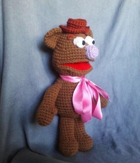 PDF Fozzie bear 13 inches Amigurumi doll Crochet pattern.