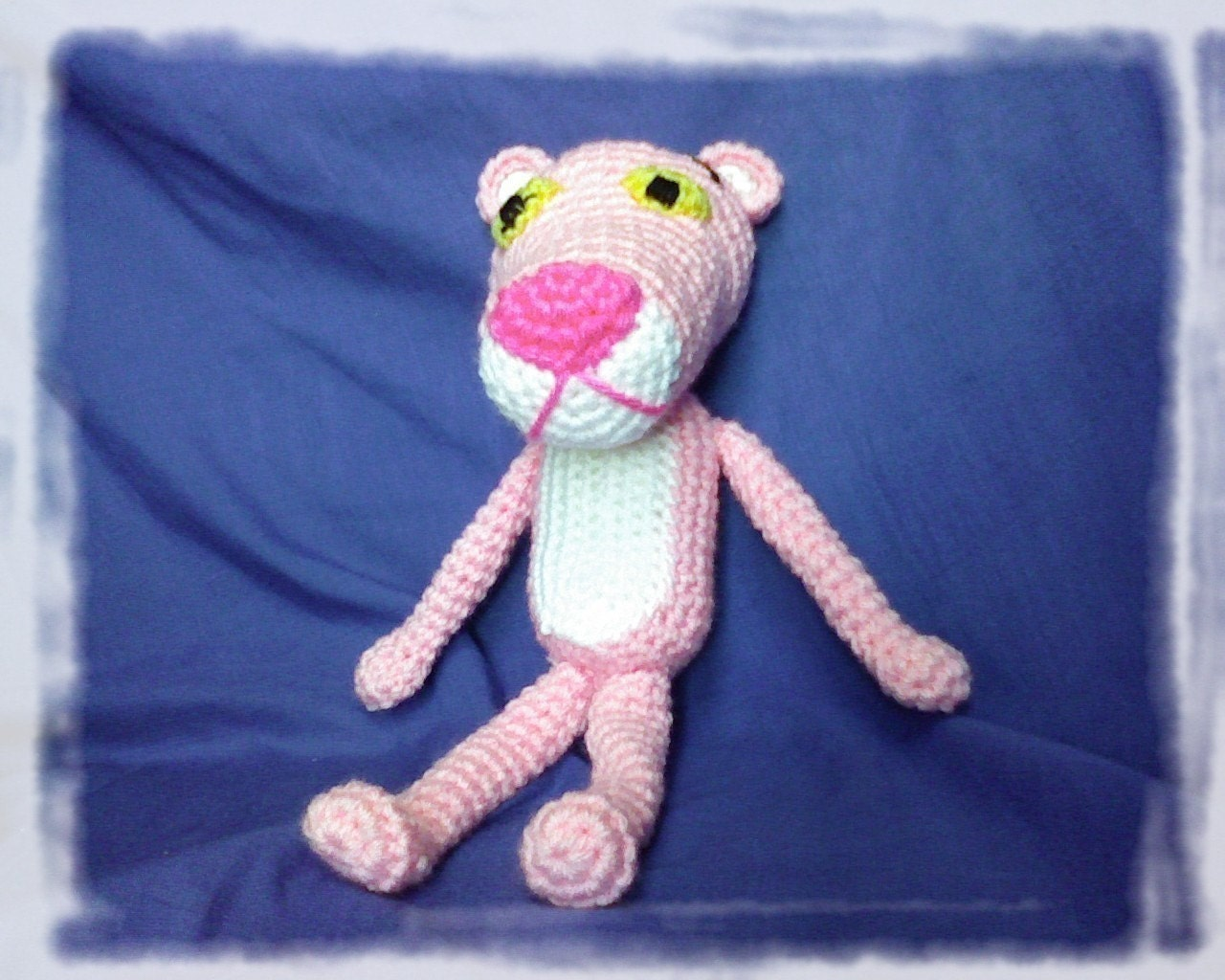 Amigurumi Free Pattern Pink Panther : PDF The Pink Panther 11.5 inches amigurumi doll crochet