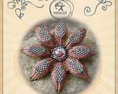 Beading pattern pendant tutorial / pattern Tobias flower pendant... PDF instruction for personal use only
