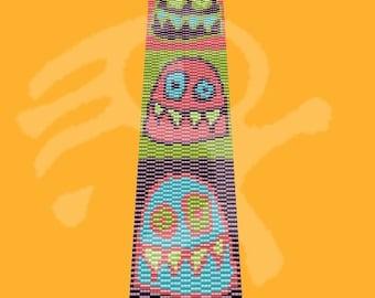 Peyote bracelet pattern Monsters.... pdf pattern