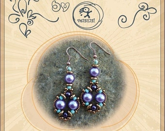 beading pattern  Earrings  pattern / tutorial Ignatius earrings... PDF instruction for personal use only