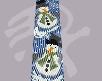 Peyote pattern Snowman... PDF pattern