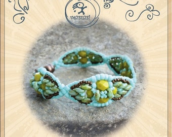 Bracelet tutorial / pattern Twin David with twin beads ..PDF instruction for personal use only