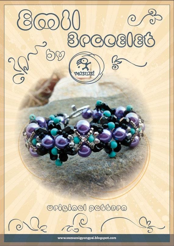 bracelet tutorial / pattern Emil bracelet...PDF instruction for personal use only