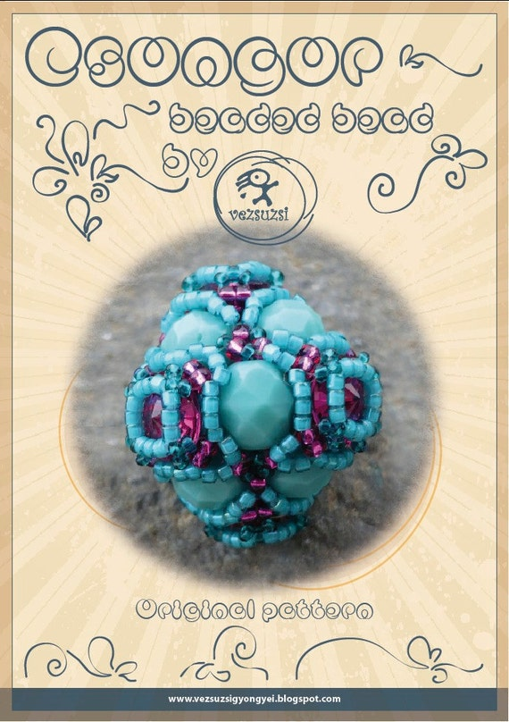 Beaded Beads tutorial / pattern Csongor beaded beads - PDF instruction for personal use only