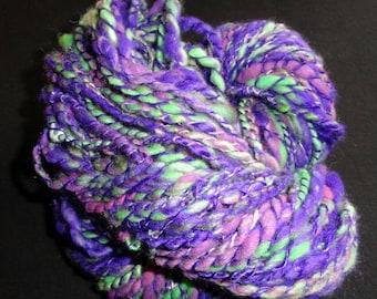 handspun art yarn ELECTRIC VIOLET - 108 yds