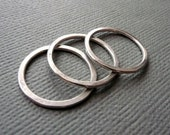 Rings. Modern Contemporary Simple Sleek Elegant Design. Sterling Silver Jewelry. Handmade by Epheriell on Etsy. Three 3 Stackers.