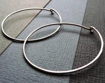 Large Sterling Silver Hoop Earrings. Modern. Contemporary. Simple. Sleek. Elegant. Jewelry. Jewellery. Handmade. Statement.