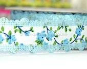 Floral Delight in Blue - Ribbon/Sewing Tape