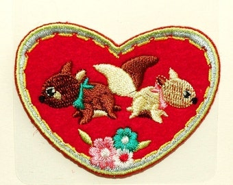 Squirrel Love iron-on transfer