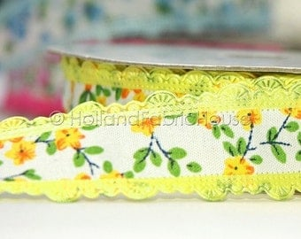 Floral Delight in Yellow - Ribbon/Sewing Tape