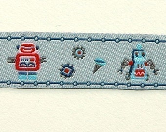 FarbenMix Robot Friends ribbon/sewing tape