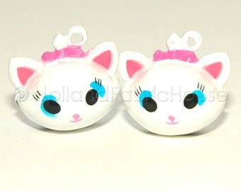Kawaii Jingle Bell Charms -- Cute Kittens: Set of 2