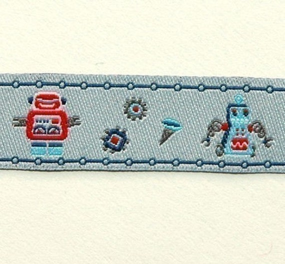 FarbenMix Robot Friends ribbon/sewing tape