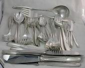 Sterling Silver Wilkens of Germany 50 Piece Flatware Set Service for 8 Vintage 925