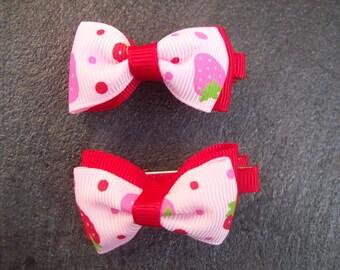 Strawberry Hair Bows