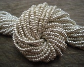 Sterling Silver Washed Size 11 Czech Seed Beads 10 grams