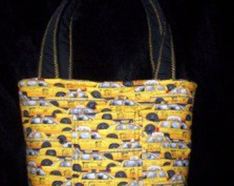 new York City Taxi Cab Tote Purse Bag