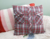 Awesome upcycled pillow for couch or bed
