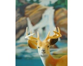 stag with paint by number background print