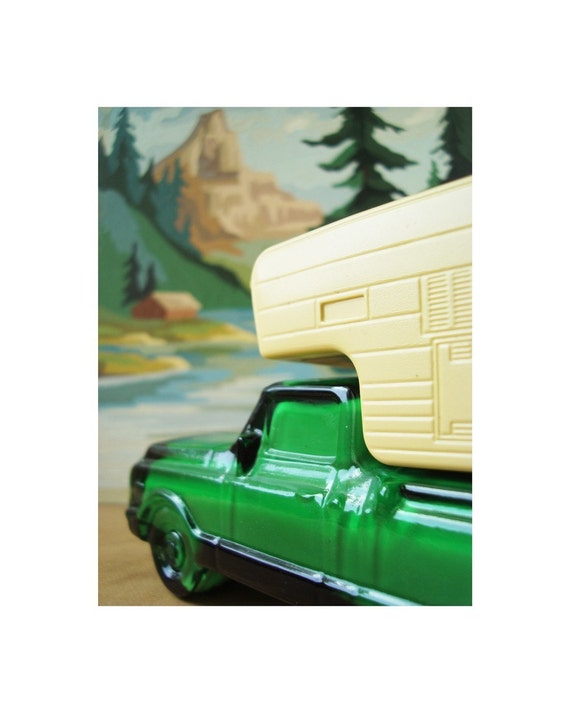 avon camper with paint by number background print