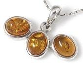 Amber Pendant, Genuine Honey Baltic Amber Pendant, Sterling Silver, Handmade in Bali, Loveofjewelry, SKU 4831