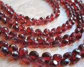 Crimson Red Garnet Faceted Onion
